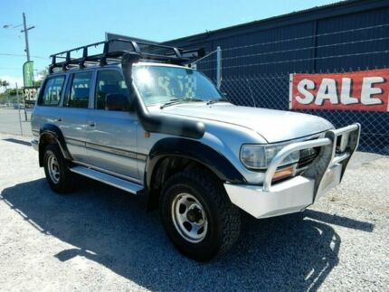1990 Toyota Landcruiser HDJ80R GXL Silver 5 Speed Manual Wagon Kippa-ring Redcliffe Area Preview