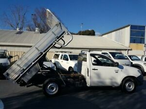 2011 Toyota Hilux TGN16R MY11 Upgrade Workmate White 5 Speed Manual Cab Chassis Canley Vale Fairfield Area Preview