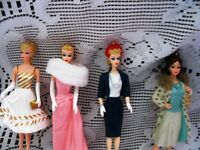 """4.5""""HALMARK BARBIE COMMUTER,CONT HOLIDY,COUNTRY CLUB,ENCHANT EVE"""