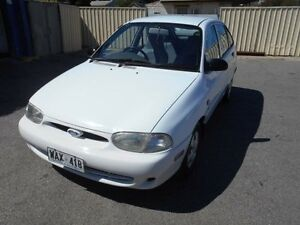 1997 Ford Festiva WD GLXi White 3 Speed Automatic Hatchback Christies Beach Morphett Vale Area Preview