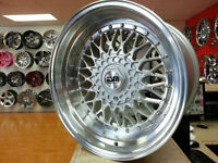 ESM002R Silver RS STYLE WHEELS 17x8.5 5x100 VW . 905 673 2828