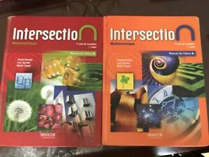 manuel intersection secondaire 3 et divers livres de secondaire