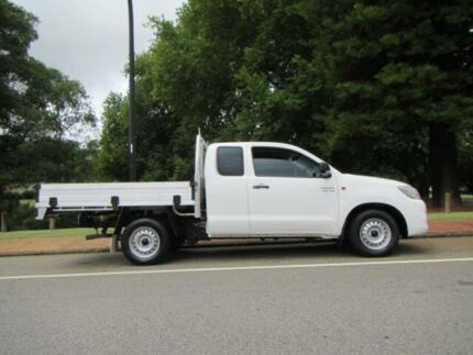 2014 Toyota Hilux GGN15R MY12 SR White 5 Speed Automatic X Cab Pickup Mount Lawley Stirling Area Preview