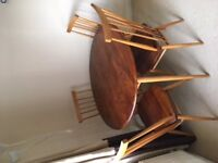 Original 1960s Ercol Table and 4 Chairs