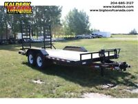 H&H 8.5HD HEAVY DUTY FLATBED TANDEM AXLE TRAILER