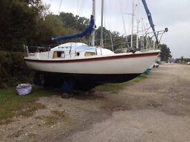Rowan McWester Crown Sailing boat / yacht, 24 foot long, 10hp Volvo Penta inboard engine