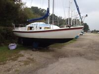 Rowan McWester Crown Sailing boat / yacht, 24 foot long, 10hp Volvo Penta inboard engine