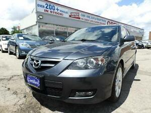 2009 Mazda Mazda3 GT LEATHER ROOF HEATED SEATS CERTIFIED