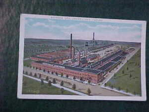 antique GENERAL MOTORS OSHAWA POST CARD