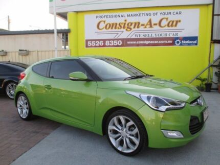 2013 Hyundai Veloster FS2 Coupe Green 6 Speed Manual Hatchback Bundall Gold Coast City Preview