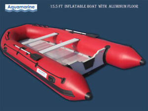 2019 New Aquamarine 15.5' Inflatable Boat with ALUMINUM FLOOR