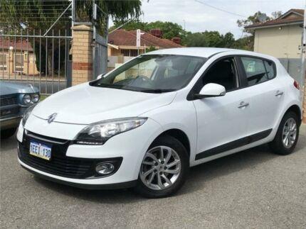 2013 Renault Megane X32 Dynamique White Continuous Variable Hatchback St James Victoria Park Area Preview