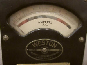 ANTIQUE WESTON AMP METER AND W.G. PYE SHUNT