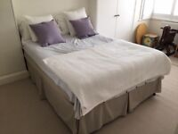 Queen size double bed and mattress for sale