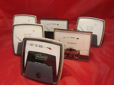 Lot Of 6 Vintage Voltmeter Gauges General Electric