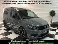 2018 18 Volkswagen Caddy 2.0 TDi Highline~SAT NAV~DELIVERY MILES~