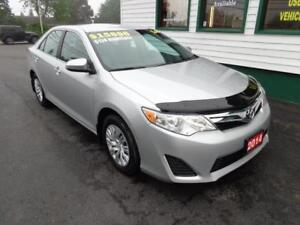 2014 Toyota Camry LE for only $174 bi-weekly all in!