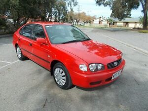2001 Toyota Corolla AE112R Ascent Seca Fire Red 4 Speed Automatic Liftback Alberton Port Adelaide Area Preview