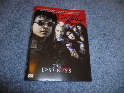 LOST BOYS Cast signed Autogramm : KIEFER SUTHERLAND u. COREY FELDMAN In Person
