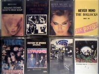 STONES x2, ROXY MUSIC, SEX P's, SIOUXSIE BANSHEES, SPARKS, SPIN DOCTORS, STONE ROSES CASSETTE TAPES.