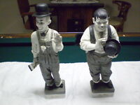 Laurel and Hardy ceramic set great entertainer series numbered