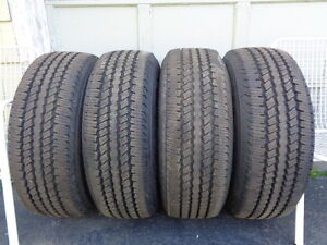 Set of 4 LT275/65 R18 Continental Truck Tires.