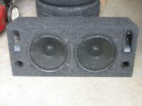 Caisse de son pour auto speaker 12' Woofer et horn