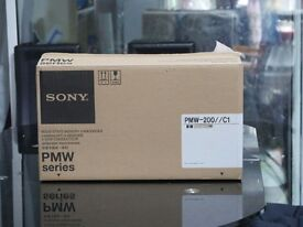 sony pmw 200 hours 700 with battery all cables box bag
