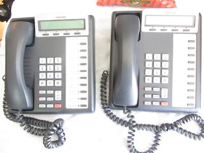 Lot Of 2 Toshiba Digital Business Phone Dkt3210-sd With Handset