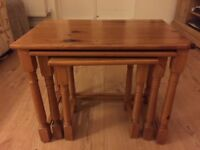Nest of 3 Wooden Tables For Sale