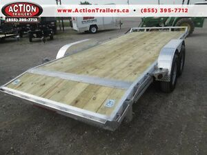 ALL ALUMINUM 7 X 20' EQUIPMENT TRAILER 5 TON - NO RUST - QUALITY