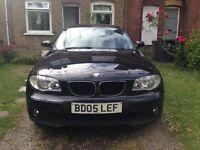 BLACK BMW SERIES 1 DIESEL 2005