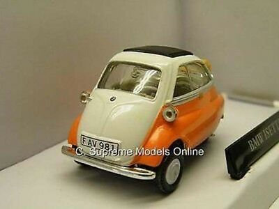 BMW ISETTA 250 BUBBLE CAR 1/43RD SIZE MODEL ORANGE CARARAMA TYPE BOXED T3412Z-+- ()