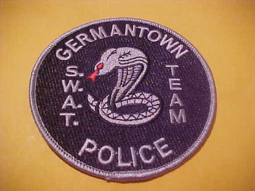 GERMANTOWN TENNESSEE S.W.A.T.  POLICE PATCH SHOULDER SIZE UNUSED 4 X 4