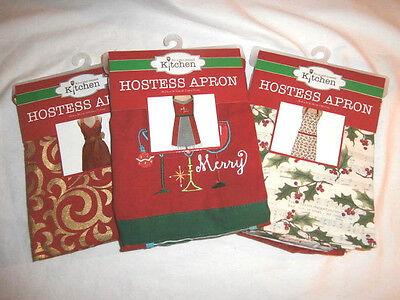 Christmas Hostess Apron Kay Dee Designs - You Choose - 100% Cotton Full Length