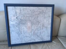 Large Framed Streetmap of Exeter