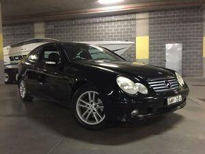 2002 Mercedes-Benz C200 CL203 Kompressor Black Manual Coupe Campbelltown Campbelltown Area Preview