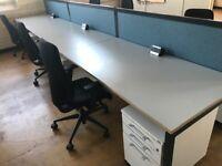 office furniture 1.6 meter bench desking pods of 4,6