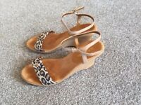 Wedge sandals - AS NEW. Size 38.
