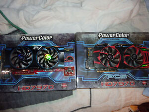 2 Powercolor AMD Radeon HD 7970 Video Cards Used/Good Condidtion