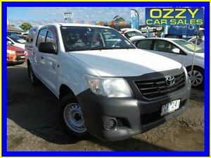 2012 Toyota Hilux TGN16R MY12 Workmate Glacier White 4 Speed Automatic Dual Cab Pick-up Penrith Penrith Area Preview