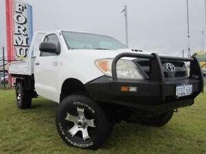 2007 Toyota Hilux KUN26R SR White 5 Speed Manual Trayback Wangara Wanneroo Area Preview