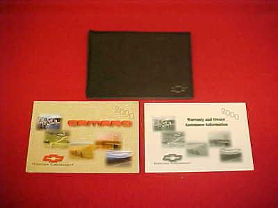 Service Manual-kit (2000 CHEVROLET CAMARO ORIGINAL OWNERS SERVICE GUIDE MANUAL KIT BLANK + CASE OEM)