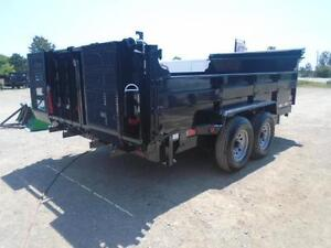 ULTIMATE DUMP TRAILER - 6 TON QUALITY 7 X 12' BED W/COMBO GATE London Ontario image 5