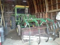 John Deere Tractor with loader and grapple