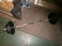 EZ bar with weight selection 55kg for building cannons