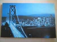 Canvas Print of Oakland Bay Suspension Bridge San Francisco. 100cm x 66cm.