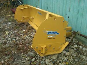 Metalplessis snow blade pusher plow and salt sand spreader