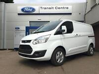 NEW Ford Transit Custom 2.0TDCI 130PS 290 L1H1 Limited in White+ 230V, Roof Rack