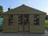 12 x 10 Loglap summer house (new)
